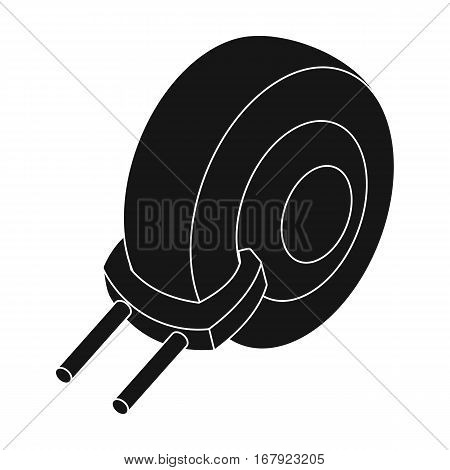 Wheel clamp icon in black design isolated on white background. Parking zone symbol stock vector illustration.