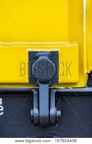 Detail - Freight cargo train - 4-axled flat wagon Type:Res Model:072-2 - Transvagon AD