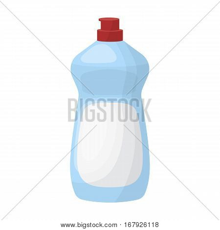 Dishwashing soap icon in cartoon design isolated on white background. Cleaning symbol stock vector illustration.