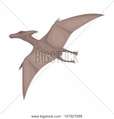 Dinosaur Pterodactyloidea icon in cartoon design isolated on white background. Dinosaurs and prehistoric symbol stock vector illustration.