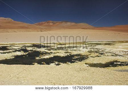 Splendid landscape in the desert of Atacama