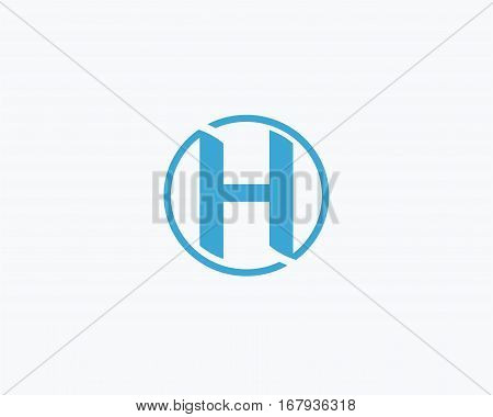 Letter H icon alphabet symbol. Letter H logo icon design vector sign.