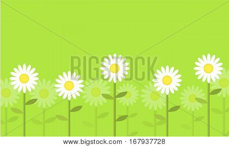 Flower on green background vector collection stock