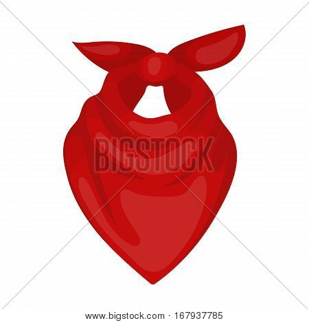 Cowboy bandana icon in cartoon design isolated on white background. Rodeo symbol stock vector illustration.