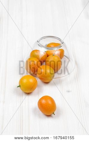 Kumquat Fruits Citric Fruit On A Cup Of Glass