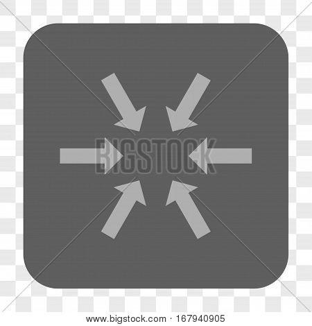 Compact Arrows interface toolbar button. Vector icon style is a flat symbol on a rounded square button, light gray and gray colors, chess transparent background.
