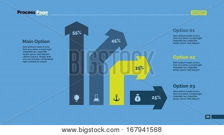 Four bent arrows percentage chart. Business data. Graph, diagram, design. Concept for infographic, presentation, report. Can be used for topics like analysis, statistics, finance.