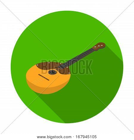 Domra icon in flat design isolated on white background. Musical instruments symbol stock vector illustration.
