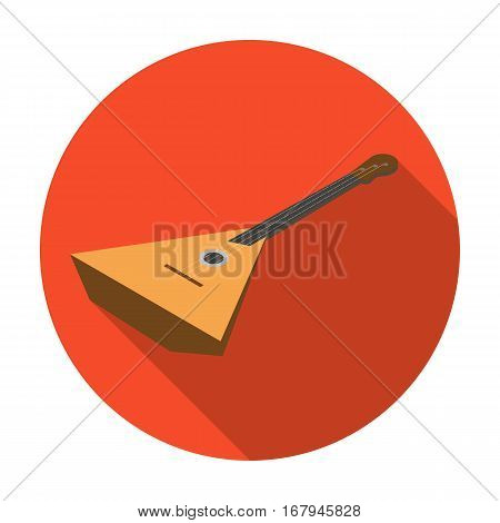 Balalaika icon in flat design isolated on white background. Musical instruments symbol stock vector illustration.