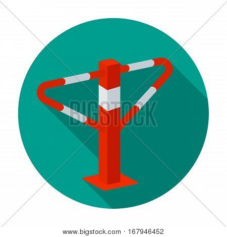 Parking construction barricade icon in flat design isolated on white background. Parking zone symbol stock vector illustration.