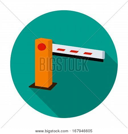 Parking barrier icon in flat design isolated on white background. Parking zone symbol stock vector illustration.