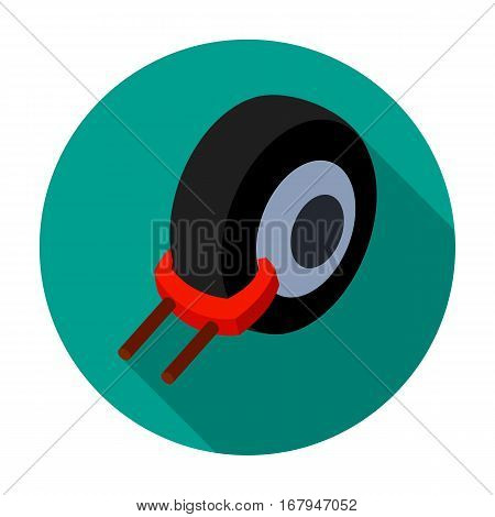 Wheel clamp icon in flat design isolated on white background. Parking zone symbol stock vector illustration.