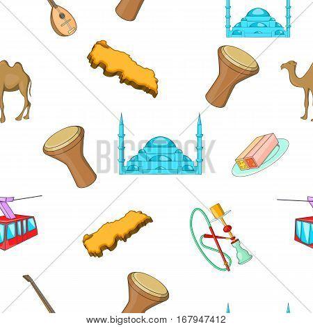 Turkey country pattern. Cartoon illustration of Turkey country vector pattern for web