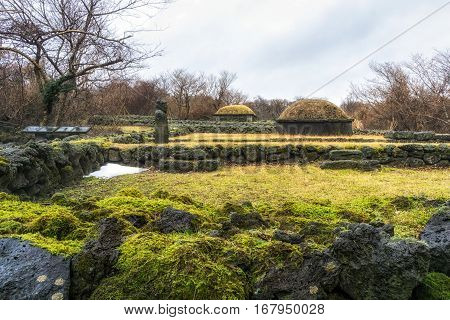 Old Cemetery In Jeju Island