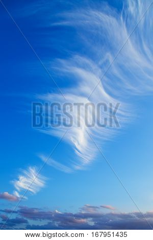 background with blue sky and big cloud