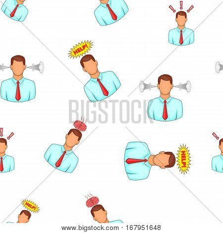 Depression pattern. Cartoon illustration of depression vector pattern for web design