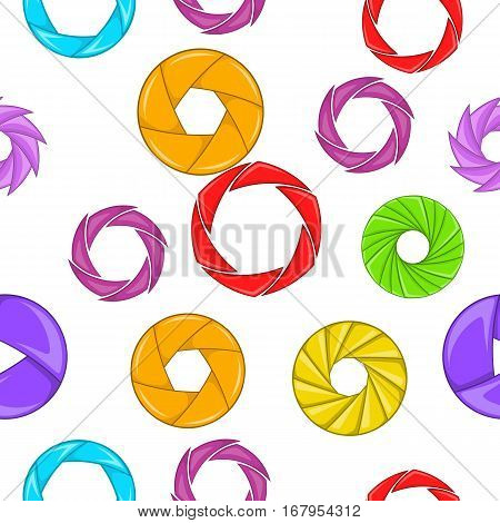 Aperture pattern. Cartoon illustration of aperture vector pattern for web