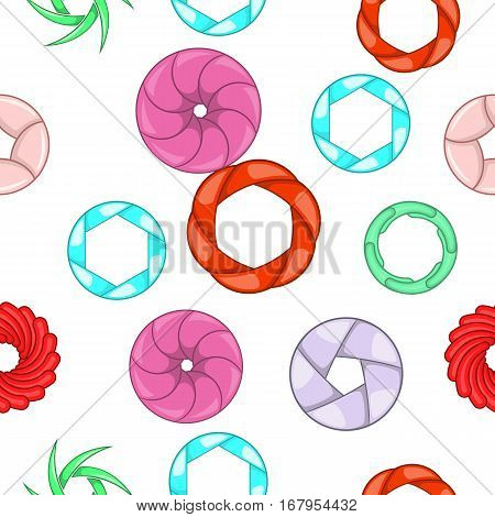Aperture camera pattern. Cartoon illustration of aperture camera vector pattern for web