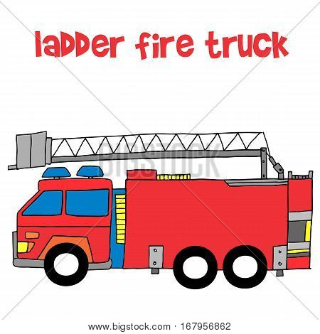 Vector of ladder fire truck collection stock