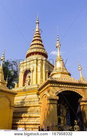 Pagoda Shan Style In Pai, Maehongson Thailand