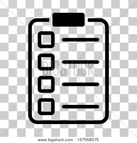 Examination icon. Vector illustration style is flat iconic symbol, black color, transparent background. Designed for web and software interfaces.