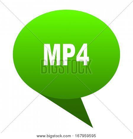 mp4 green bubble web icon