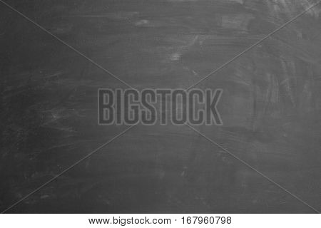 Empty blackboard with slight rests of chalk as background