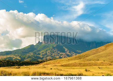 View of Kukenan Tepui, Gran Sabana, Venezuela