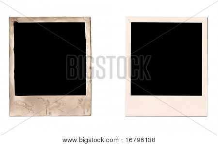 old and new instant photo frames