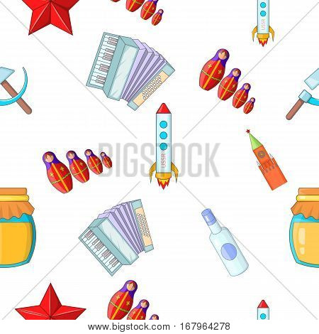 Country Russia pattern. Cartoon illustration of country Russia vector pattern for web
