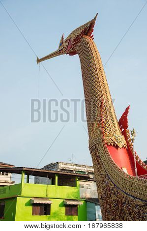 Swan Boat At Wat Cha Lor Temple, Nonthaburi