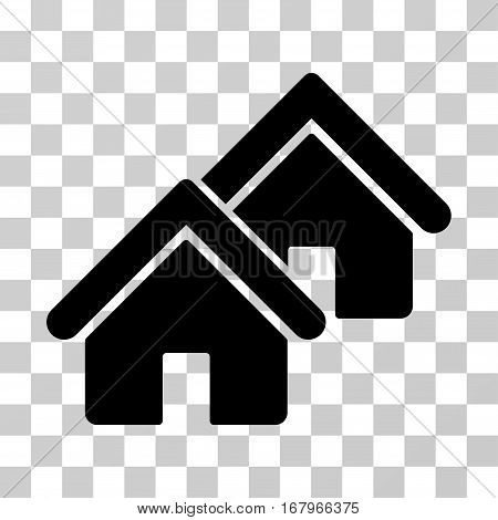 Realty icon. Vector illustration style is flat iconic symbol, black color, transparent background. Designed for web and software interfaces.