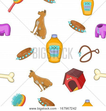 Doggy pattern. Cartoon illustration of doggy vector pattern for web