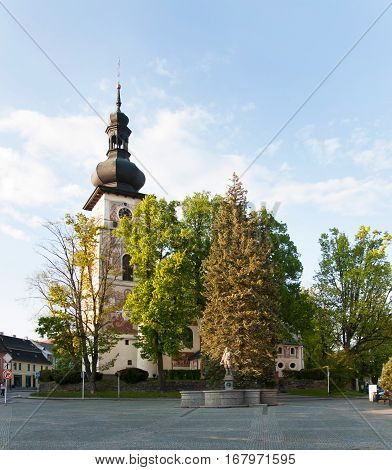 Catholic Church of Saint Cunigunde in Nove Mesto na Morave Czech republic