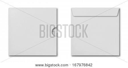 Set Of White Square Envelopes
