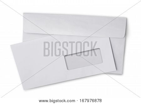 Back And Front Of White Envelope For Correspondence
