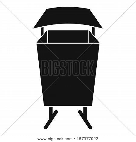 Litter waste bin icon. Simple illustration of litter waste bin vector icon for web