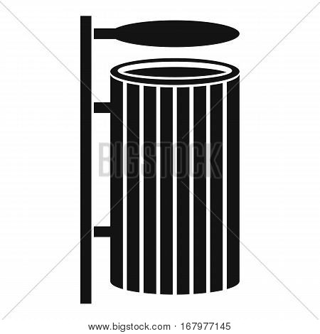 Public trash can icon. Simple illustration of public trash can vector icon for web