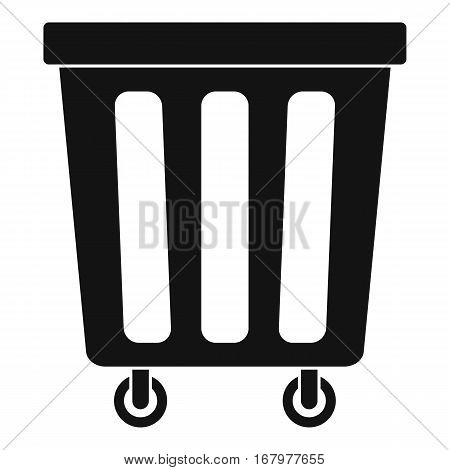 Outdoor plastic trash can icon. Simple illustration of outdoor plastic trash can vector icon for web
