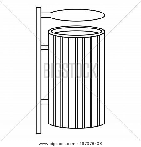 Public litter bin icon. Outline illustration of public litter bin vector icon for web