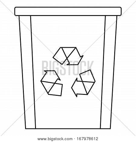 Recycle bin icon. Outline illustration of recycle bin vector icon for web