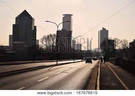 The urban landscape of a modern city
