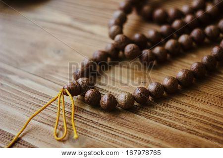 Rudraksha Japa Mala. Rosary Made From Rudraksha Seeds.