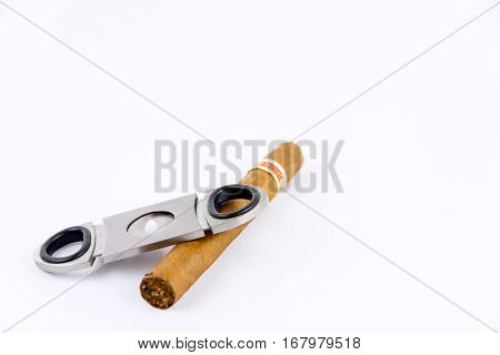 Object Photography Of A Cigar And A Cutter