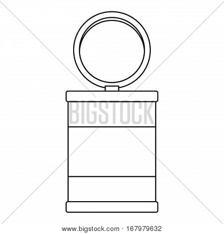 Trash can icon. Outline illustration of trash can vector icon for web
