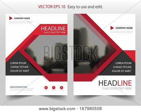 Red black Vector Brochure annual report Leaflet Flyer template design book cover layout design abstract business presentation template a4 size design