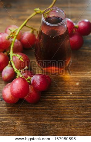 Fresh Grape Wine In Glass