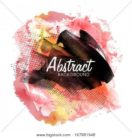 Abstract background with watercolor brush strokes.