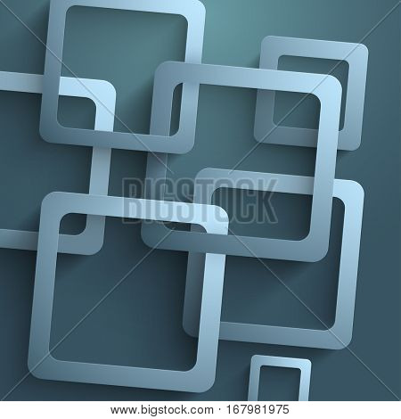 Sqaure shaped Abstract design decorated Background.