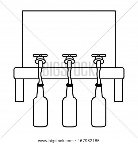 contour beer dispensers icon image design, vector illustration